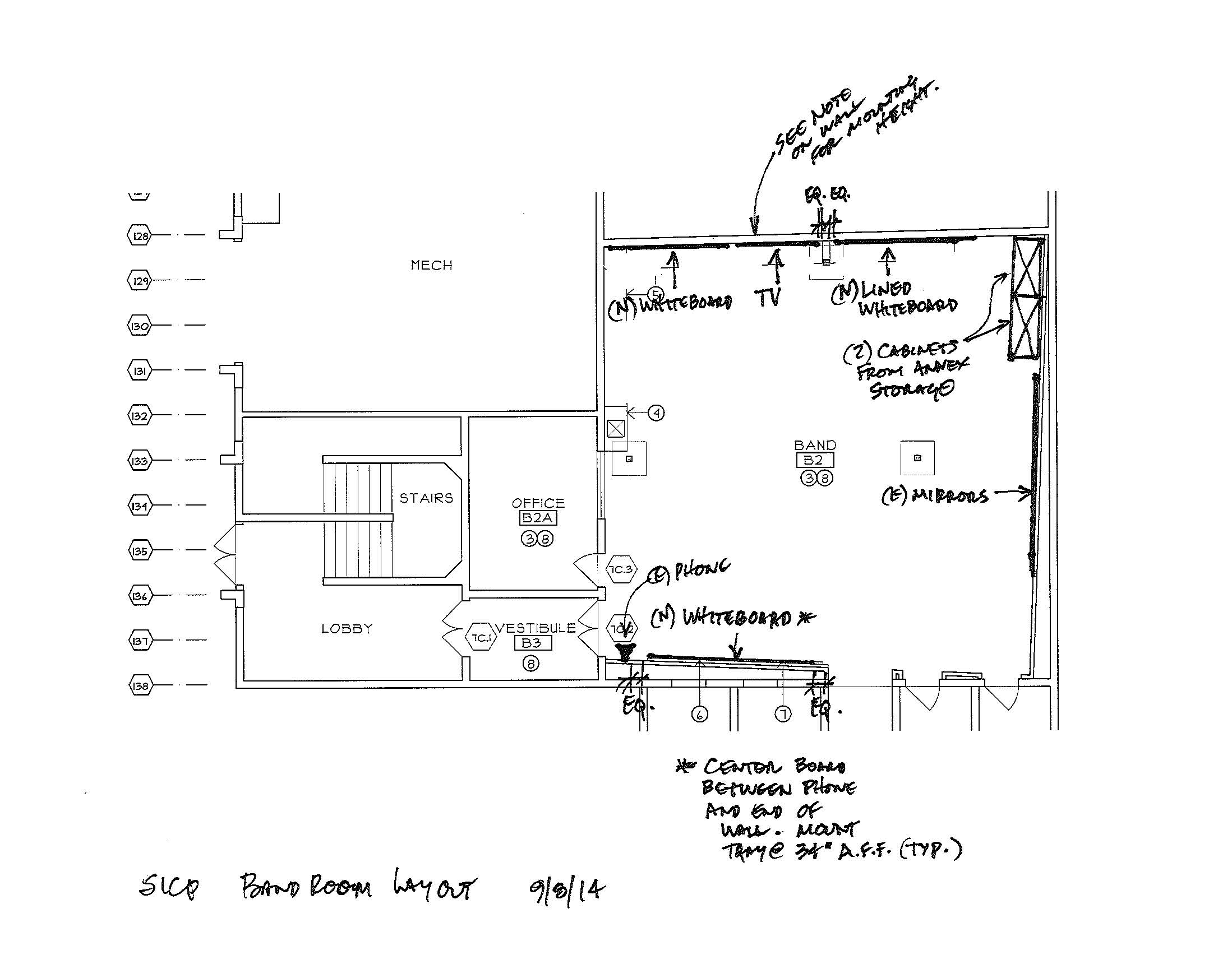 Band Room blue prints